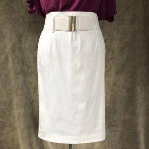 Antonio Melani high waist white pencil skirt